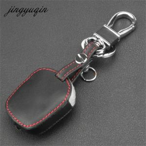 Image 3 - jingyuqin Leather Cover for Ssangyong Actyon Kyron Rexton 2 Buttons Remote Key Case Protect Holder