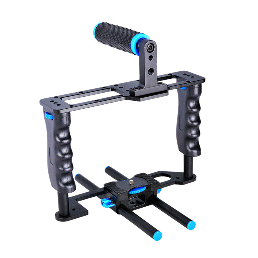 Aluminum Alloy ABS Camera Video Cage Film Movie Making Kit DSLR Cage & Handle Grip & Rod for Canon 5D2 700D 650D for Nikon D7200Aluminum Alloy ABS Camera Video Cage Film Movie Making Kit DSLR Cage & Handle Grip & Rod for Canon 5D2 700D 650D for Nikon D7200