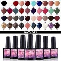 COSCELIA 40pcs/set Gel Nail Polish Gel Paint Set For Gel Varnish Semi Permanent Varnish Uv 40 Colors For Nail Art Manicure Set