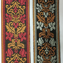 Red Brown Embroidery Tape of Bed Cover Rim Pillow Rim quilt