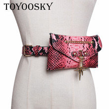 2019 Women Fashion Belts For Serpentine PU Belt Top Quality Chain Bags Waist for All-Match Lady Female TOYOOSKY