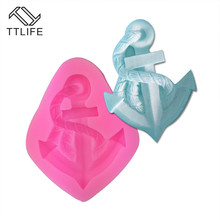 TTLIFE Anchor Rudder Silicone Mold Ship Rope Fondant Cake Decorating DIY Tools Suger Paste Cupcake Candy Chocolate Baking Moulds