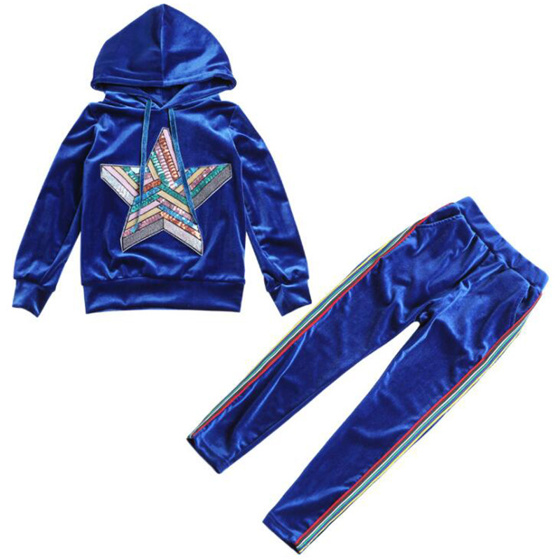 2018 autumn winter girl suit jacket + pants children clothing for girls clothes hooded velvet blue green sets for baby girls 1 2 3 4 years cute baby girl clothes sets for children autumn long sleeve rabbit jacket striped pants toddler girls baby suit