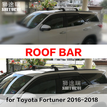 roof rack  rail (cross beam) for Toyota Fortuner hilux sw4 2016-2018 thicken aluminum alloy, ISO9001 quality,hot sale in China