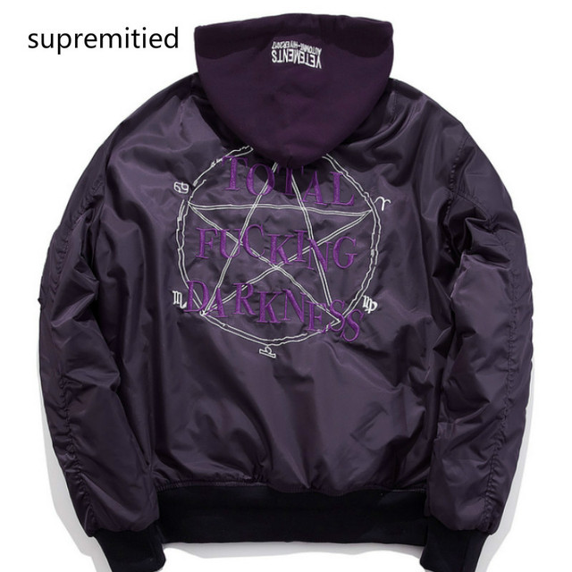 official photos 8771b 96bf8 US $66.88 |Supremitied VETEMENTS giacca oversize uomini donne hip hop skate  kanye west Francia giacca vetements supremo giacca con cappuccio in ...