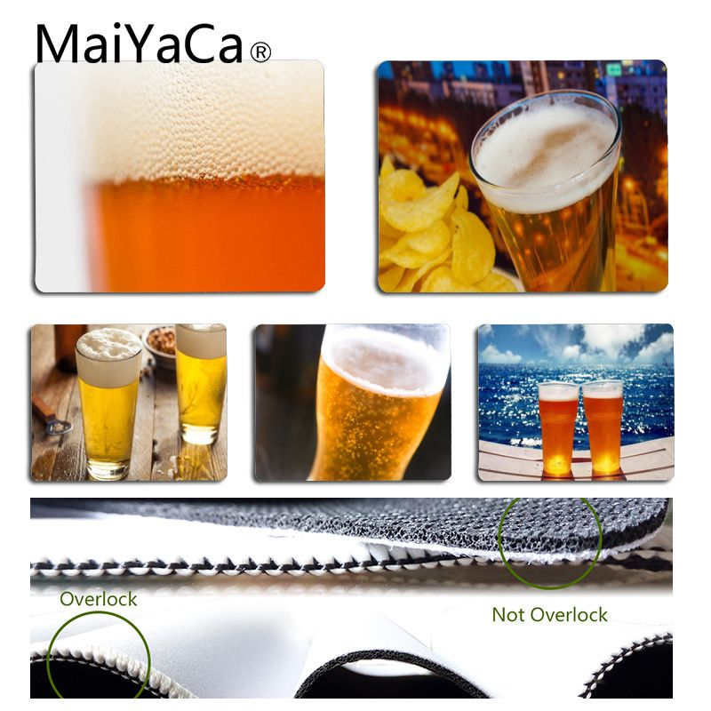 MaiYaCa Summer Beer Mouse Pad for Laptop High Speed New Mousepad image