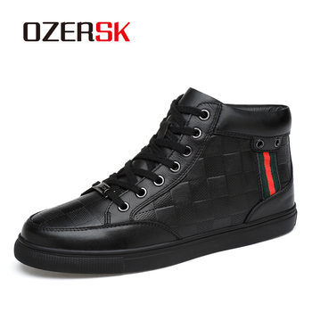 OZERSK Brand 2020 New Men Shoes Autumn Winter Men Boots Lace Up Warm Men Casual Boots Fashion Classic Men Shoes Big Size 36~48