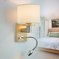 Free shipping Bedroom wall lamp plumbing hose led reading light reading lamp fabric rocker arm wall lamp 5006 3