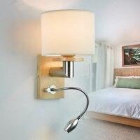Free shipping Bedroom wall lamp plumbing hose led reading light reading lamp fabric rocker arm wall lamp 5006 3