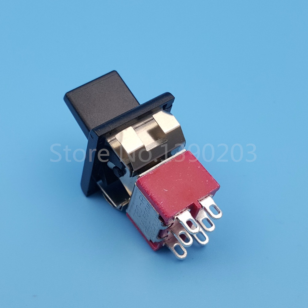 5Pcs SH R8018 P14 6Pin 3Position ON OFF ON Maintained(Locking) DPDT ...