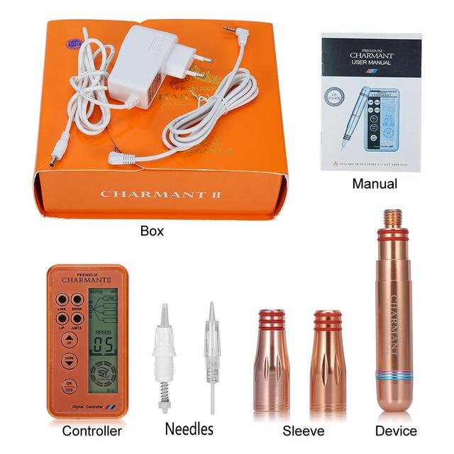 ccea7151ce0 Charmant Permanent Makeup Tattoo Machine kits Set Tattoo Microneedles Pen  Power Body Makeup Supplies for Eyebrow Lip Eyeliner -in Tattoo accesories  from ...