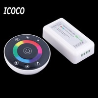 Wireless Touch Screen RGB Led Controller DC12 24A 18A RF Remote Control For Led Strip Bulb
