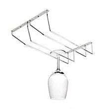 1PC New Arrival 2 Styles Stainless Steel Wine Glass Holder Stemware Rack Under Cabinet Storage Organizer J2075