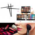 15 Colors Blusher Concealer Eyeshadow Palette Cosmetic Kits + 4pcs Eyeshadow Makeup Brush Pincel Maquiagem Eye Set Beauty Tools