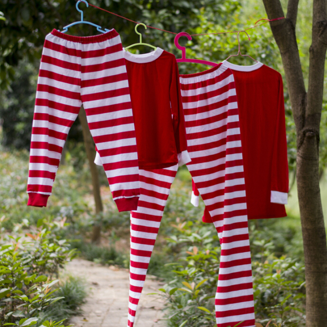 0fb86b396774 boutique pajamas outfits cute new product toddler children s pajamas soft  casual Home wear red striped Baby New Year sleepwear