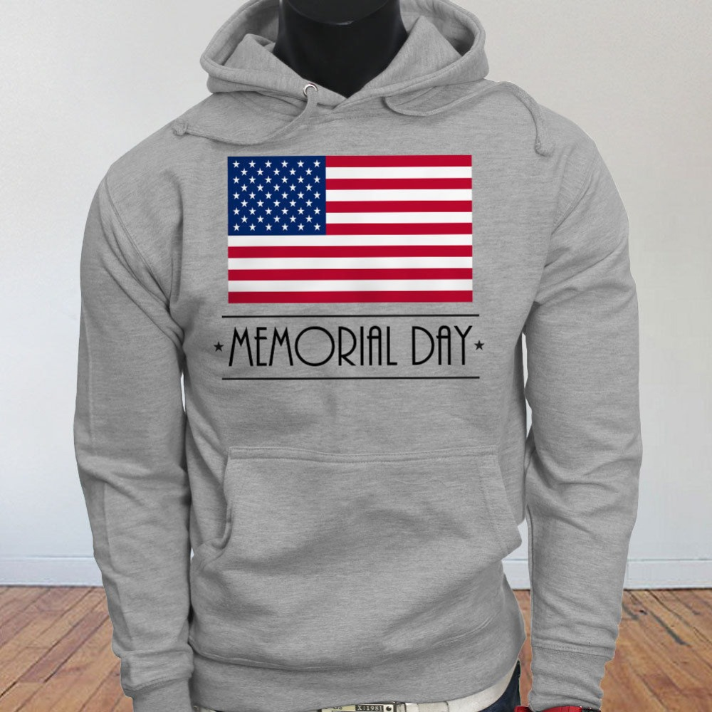 promo code 73f88 a1ca7 US $29.44 5% OFF|Funny Clothing Casual MEMORIAL DAY PATRIOT AMERICAN FLAG  PRIDE VETERAN Mens Gray Hoodie Sweatshirt-in Hoodies & Sweatshirts from ...