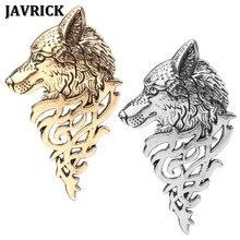 0c8cea072167 JAVRICK Retro Europe Wolf Head Badge Brooch Lapel Pin Men