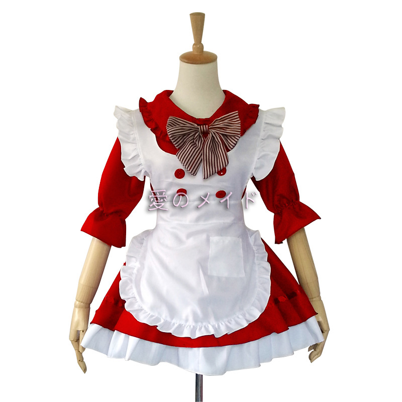 Cosplay  Housekeeper Maid Outfit Waitress Fancy  Lolita Dress Maid Fantasia Carnival Halloween Costumes for Women