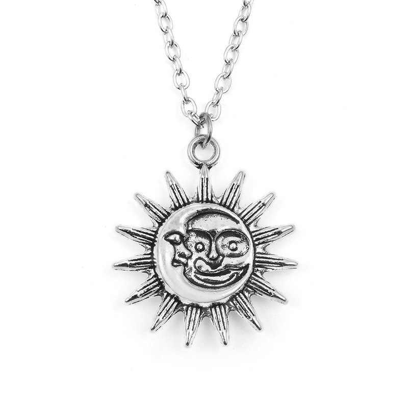 Sun moon สร้อยคอผู้หญิงแฟชั่นเครื่องประดับ collier bijoux vintage สร้อยคอ choker สร้อยคอ ras de cou