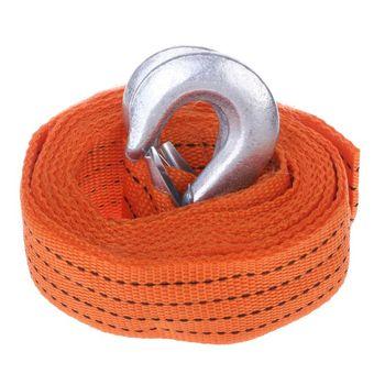 Câble de remorquage de voiture corde de traction robuste 4M 3 tonnes crochets de sangle Van Road Recovery