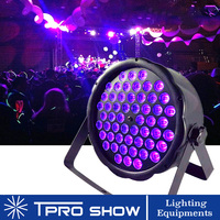 UV Light 54x3W Violet LED Par Lighting Mini Black Light DMX Music Control Dimming Strobe Flash Effect for Home Party Club Disco