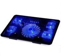 Hot Sell Genuine 5 Fan 2USB Laptop Cooler Cooling Pad Base LED Notebook Cooler Computer USB