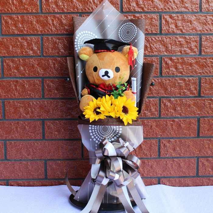 Besar Stitch Dokter Topi Stitch Kucing Doraemon Totoro Teddy Bear Boneka Plush Mainan Kartun Bunga Buket untuk Mahasiswa Pascasarjana Anak mainan