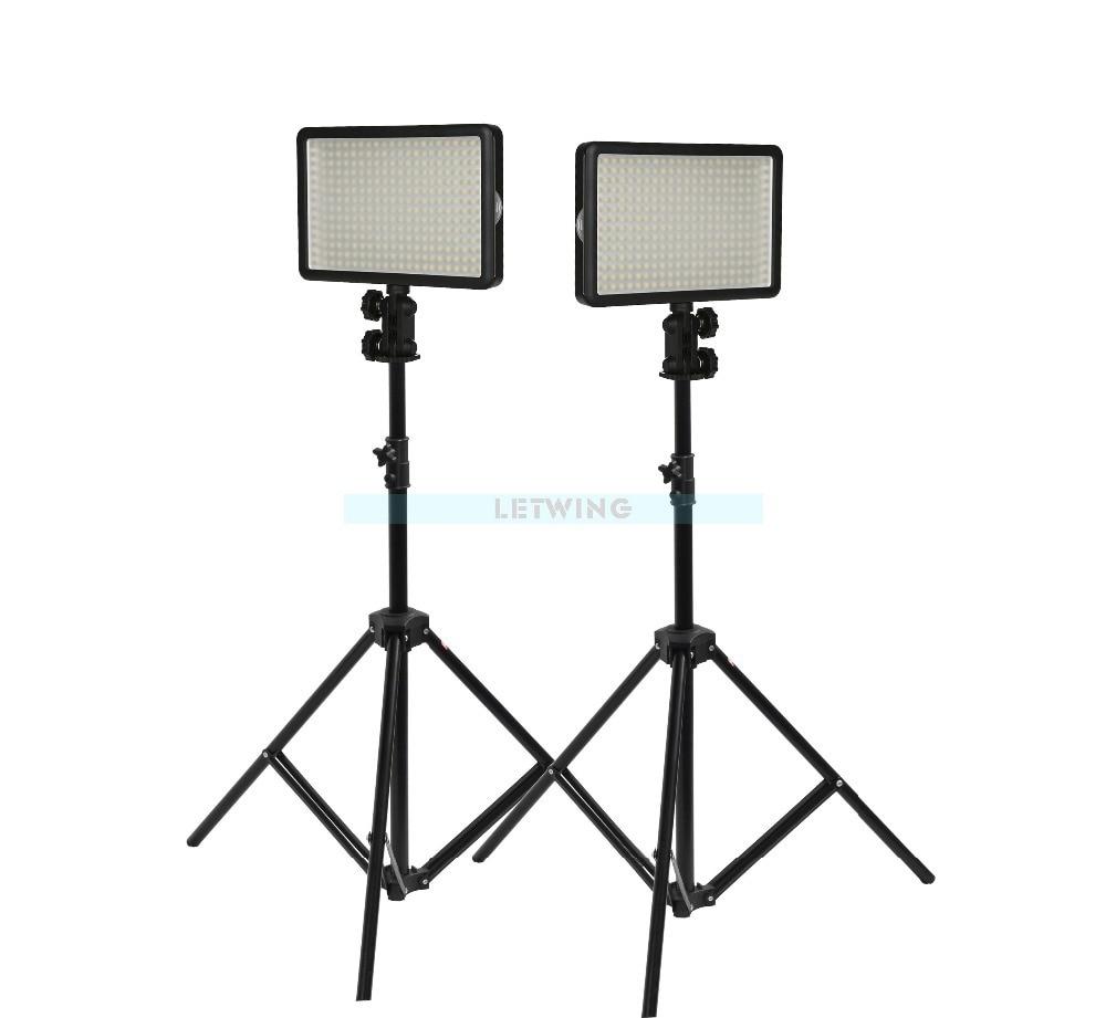 Godox LED 308C Light kit Stand SN302 With Change Lighting Studio Video Light Kit For Wedding Fashion TV Adjust 3300-5600K godox professional led video light led500c changeable version 3300k 5600k battery dual charger 2m light stand