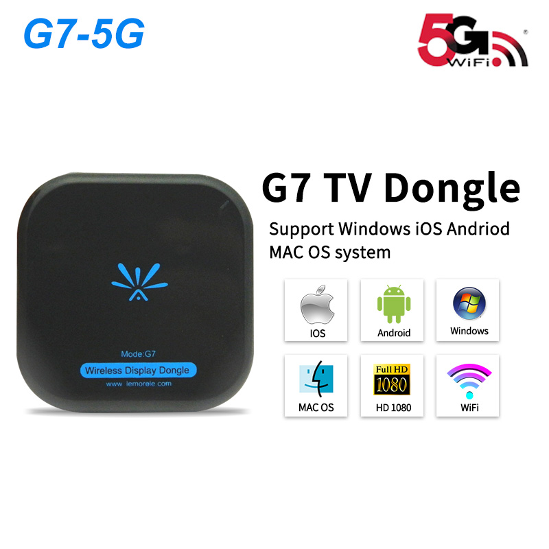 New TV Stick Mirascreen G7 5Ghz High Speed WiFi Display TV Dongle Receiver Anycast Miracast Airplay DLNA For Apple Android Tv T2