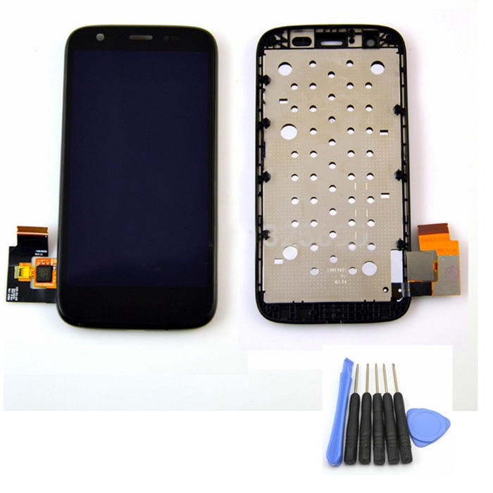 Black color Replacement For Motorola Moto G XT1032 XT1033 LCD Display Screen with Touch Digitizer + Frame assembly+ free tools new original lcd replacements for motorola moto g xt1032 xt1033 lcd display touch digitizer screen with frame assembly tools