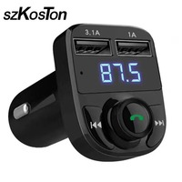 Business Handsfree Wireless Bluetooth Car MP3 Player Dual USB FM Transmitter Radio Kit LCD Display Support U Disk TF Card