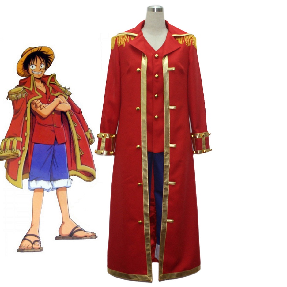 High-Q Unisex Anime Cos One Piece Cosplay Monkey D Luffy Captain Cosplay Uniform Cosplay Costume Sets
