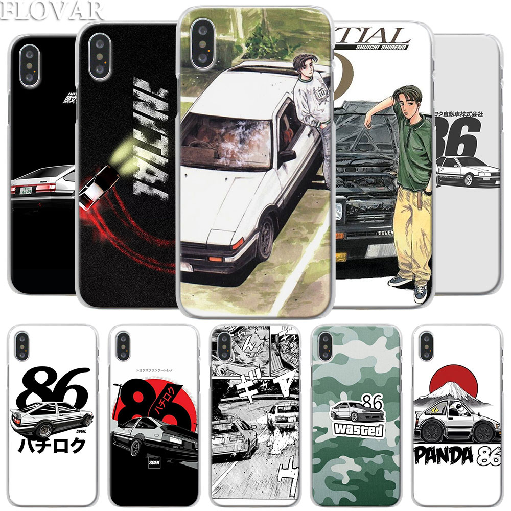 INITIAL <font><b>D</b></font> AE86 Phone Case for Apple <font><b>iPhone</b></font> X XR 7 8 Plus 6 <font><b>6s</b></font> Plus XS MAX SE Phone Case <font><b>Coque</b></font> image