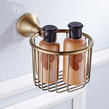 Antique brass towel basket Restroom European round roll toilet paper holder tissue Toilet Accessories ZD890