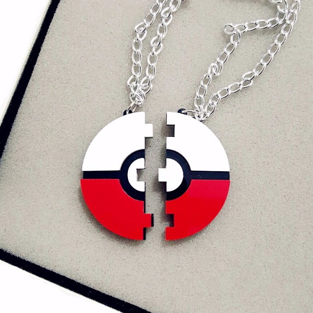 2016 New Pokemon <font><b>GO</b></font> Game Pokeball Pendant Necklace Must <font><b>have</b></font> Couples Necklace Laser Cut Acrylic Jewelry