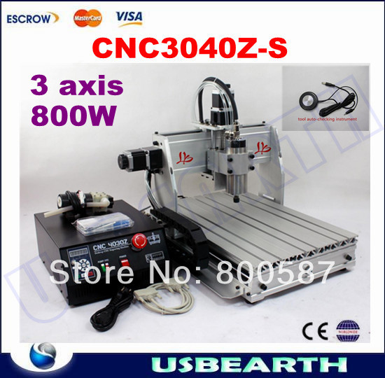 CNC 3040Z-S 3 axis Router Engraver, CNC Engraving Machine Carving Machine,Drilling / Milling Machine,can add 4th axis 4axis cnc router 3040z vfd800w engraving machine cnc carving machine cnc frame assembled