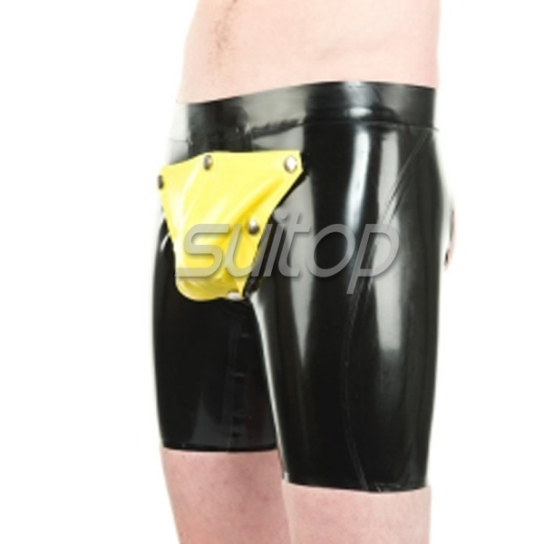 new fashion style latex breeches with pocket in front