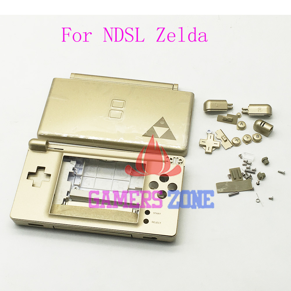 for zelda edition gold housing cover case for nintendo ds lite dsl ndsl replacement shell on. Black Bedroom Furniture Sets. Home Design Ideas