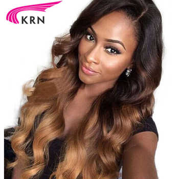 Ombre Three Tone Blonde Glueless Lace Front Wig 130% Density Lace Front Human Hair Wig With Baby Hair Pre Plucked Remy Hair KRN - DISCOUNT ITEM  40% OFF All Category