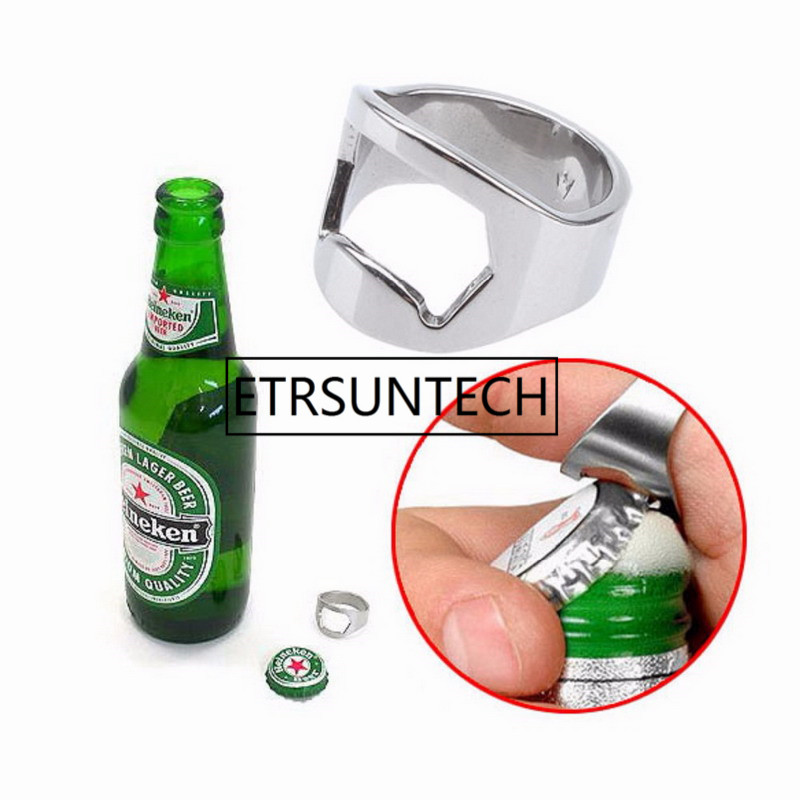 Ring Bottle Opener Stainless Steel Finger Ring Bottle Opener Beer Bar Tool Useful Kitchen Tools for