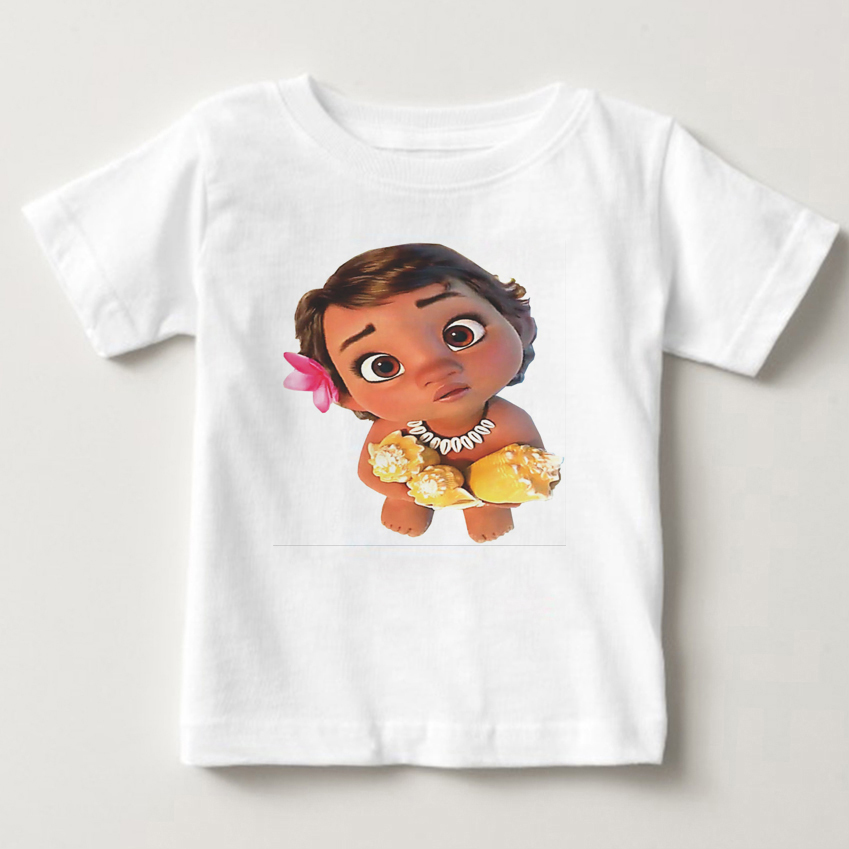 New Boys Girls T-shirt Kids Tees Baby Girl Shirts Cartoon Moana Ocean Romance Children Short Sleeve Vaiana T Shirt Tops 2019