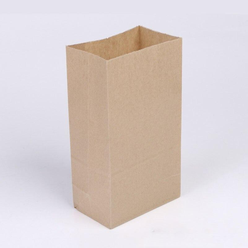10pcs lot brown Kraft paper cake bags box font b food b font packaging Jewelry Bread