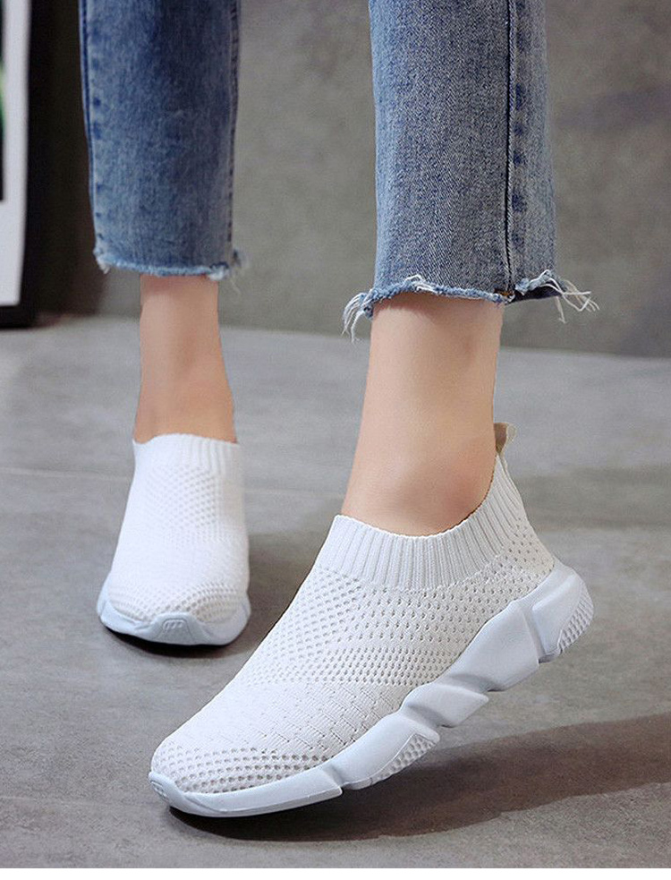 Women Shoes Slip On White Sneakers For Women Vulcanize Shoes Basket Femme Super Light Women Casual Shoes Chunky Sneakers