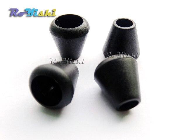 1000 pcs/paquet fermeture à glissière tire extrémités cloche bouchon sans couvercle cordon serrure en plastique noir trou taille: 5mm