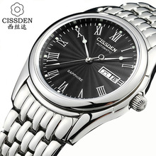 CISSDEN Luxury brand Men s mechanical wrist watch 316L stainless steel automatic 100m waterproof calendar Male