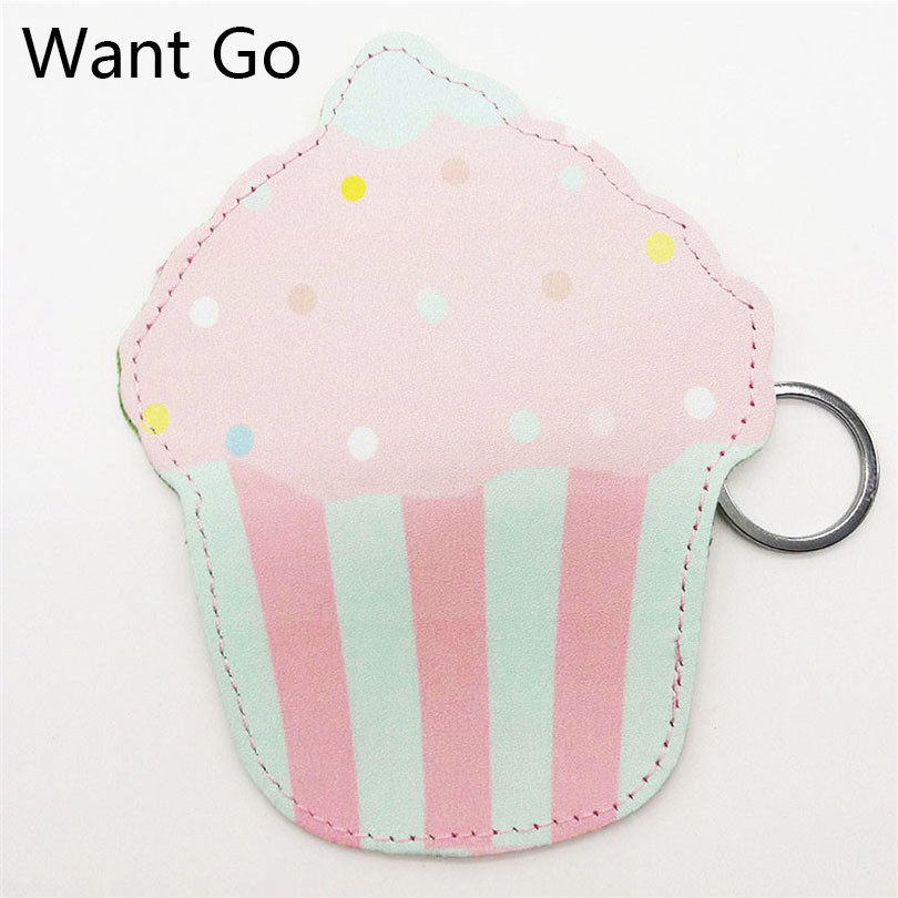 Want Go England Style Cake Zipper Coin Purse Cute 3D Women Coin Collection Bag Small Wallet Purse Waterproof Clutch Storage Bag
