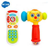 Bébé jouets enfant en bas âge apprentissage clic et compter musique à distance et électrique son jouer marteau drôle interactif effet sonore jouets musicaux