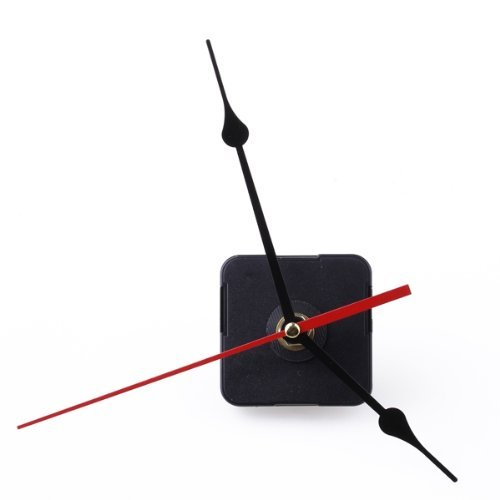 Sweet Center Clock Movement Black Hour Minute Red Second Hand DIY Tools Set