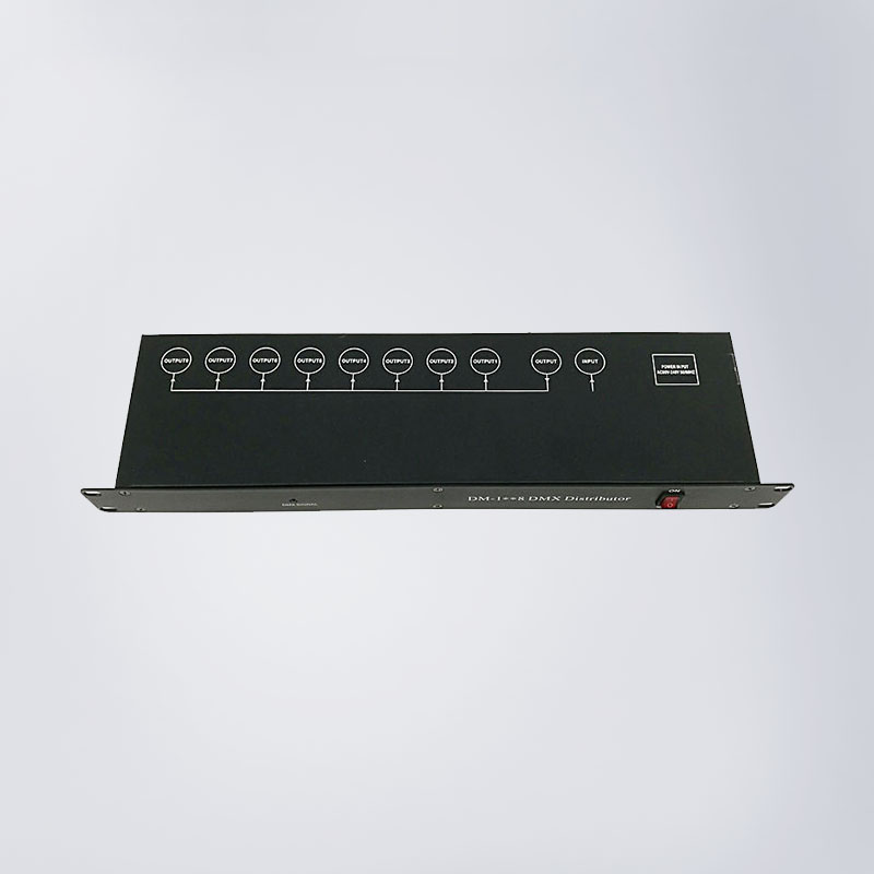 8ways DMX signal distributor DMX controller DMX512 digital signal input 8ch signal output control c13 power plug 90 degree angled iec 320 c13 female plug ac 10a 250v power cord cable connector 1pcs