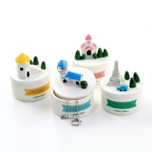 Free shipping BF050 Creative storage multifunctional micro landscape jewelry box 9*6.5cm